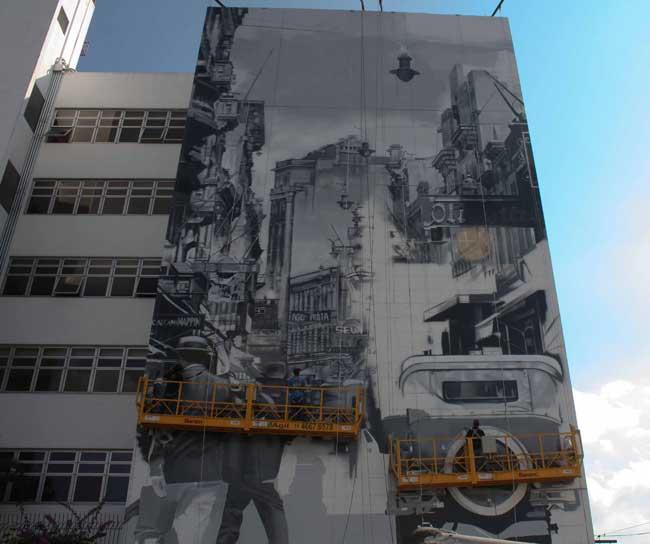 Novo trabalho de Eduardo Kobra (foto: Divulgação)