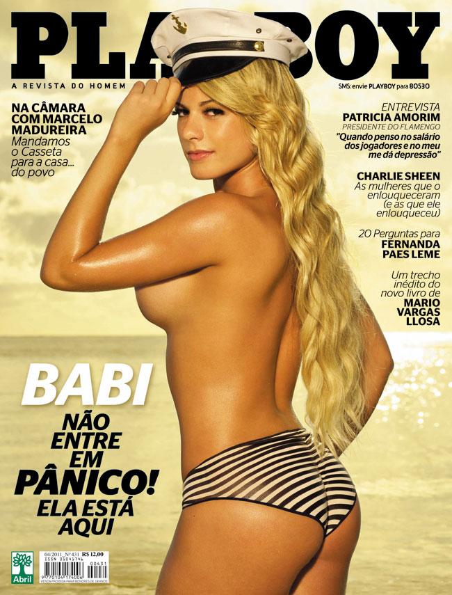 Playboy de abril tem Babi Rossi do Pânico na TV na capa (foto