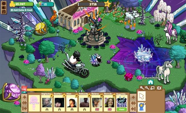 Gagaville, a fazenda da Lady Gaga no Farmville (reprodução)