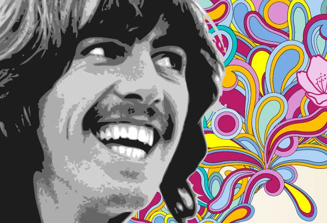 George Harrison (ilustração: Bagarai)