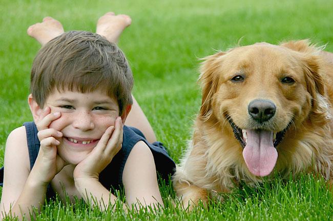 Cachorro e menino (foto: sonya etchison - Fotolia)