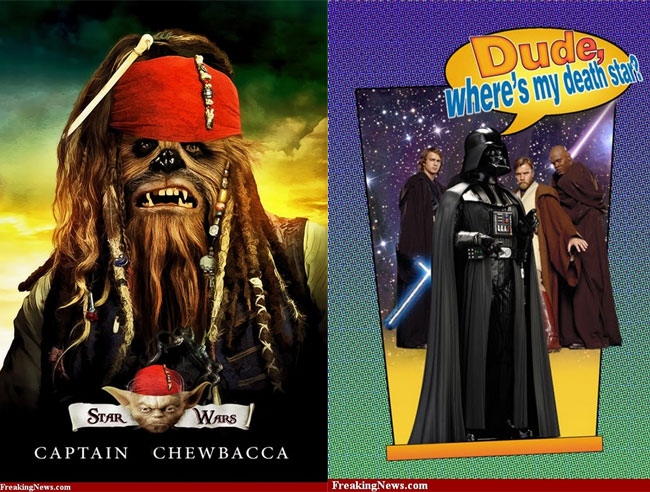 Posters famosos ganham versão Star Wars (reprodução)