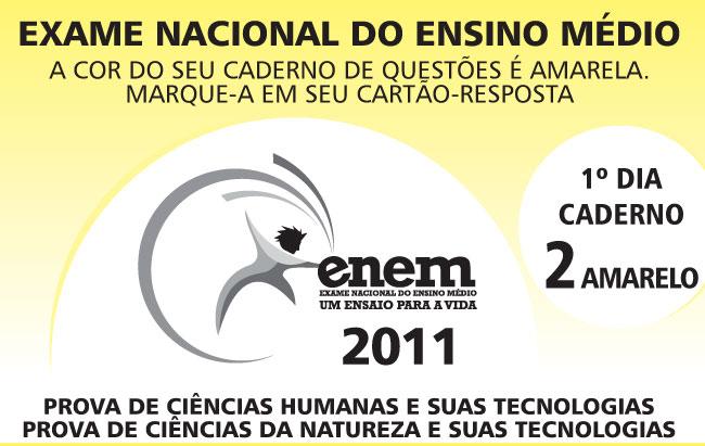 Prova Amarela do Enem 2011 (reprodução)