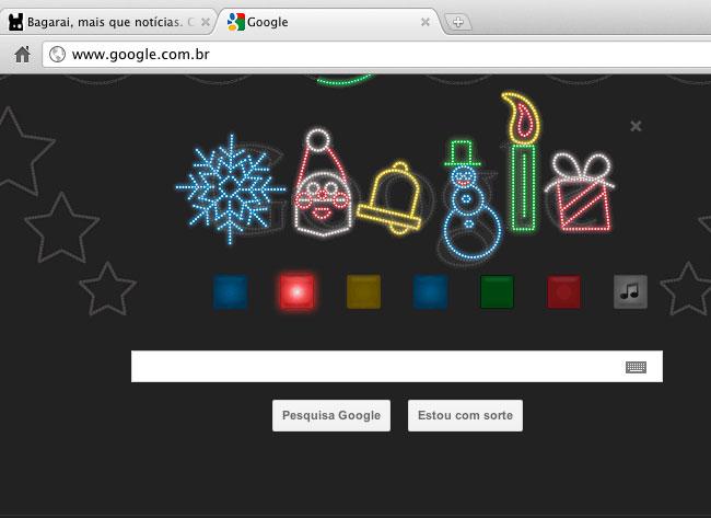 Google deseja Boas Festas com doodle (reprodução)
