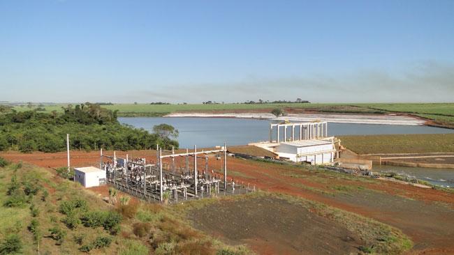 Pequena Central Hidrelétrica Anhanguera, inaugurada em 2010. Juntas, as centrais de Monjolinho e Anhanguera serão capazes de gerar 40% de toda energia consumida pela Volkswagen do Brasil (foto: divulgação)