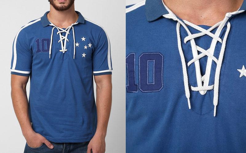 A linda Camisa retrô do Cruzeiro