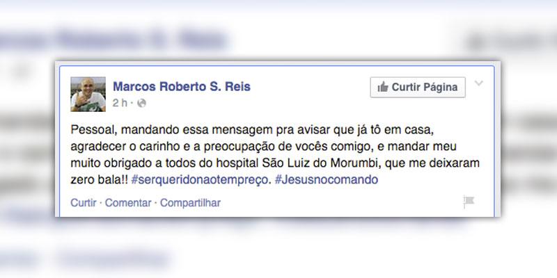 São Marcos agradece carinho da torcida do Palmeiras