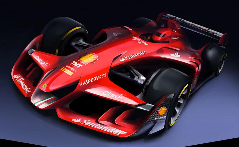 Fórmula 1 do futuro: Conheça o carro-conceito da Ferrari