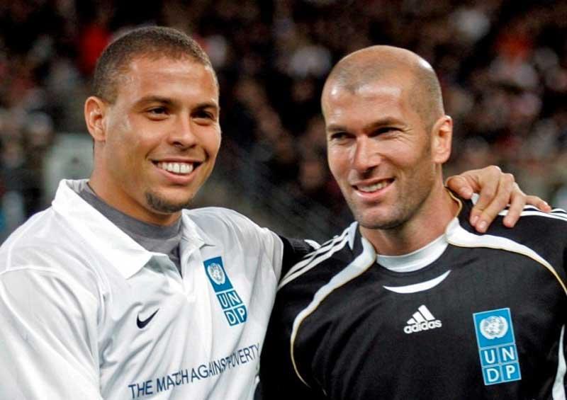 Ronaldo e Zidane estão preparando Jogo Contra a Pobreza