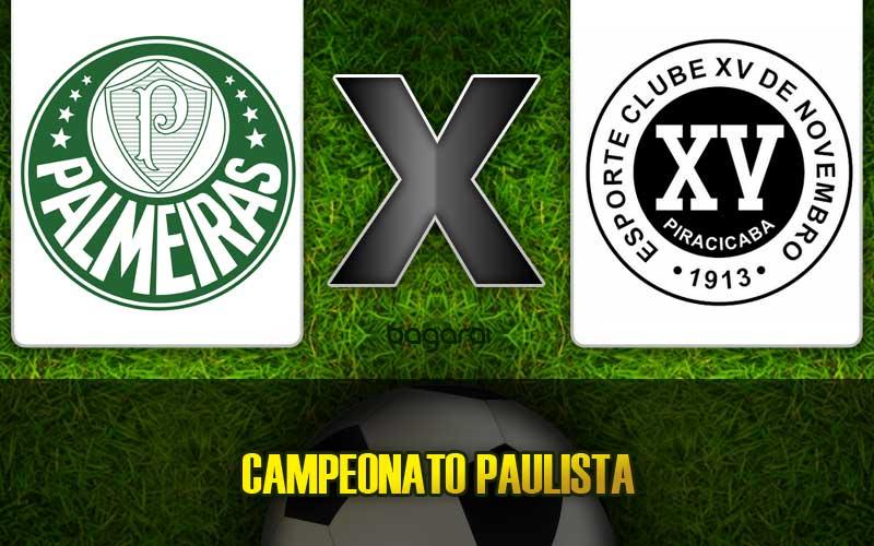 Palmeiras vence XV de Piracicaba pelo Campeonato Paulista 2015, resultado do jogo