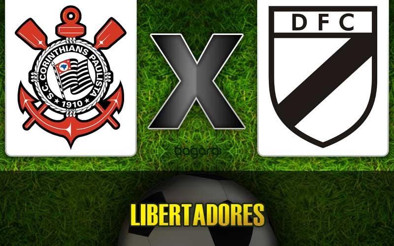 Corinthians goleia Danúbio pela Libertadores 2015