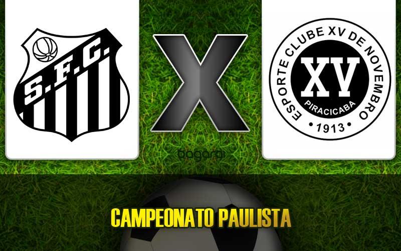 Santos FC vence XV de Piracicaba e se classifica no Campeonato Paulista 2015, resultado do jogo