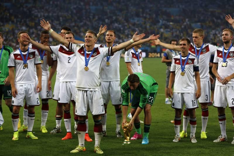 Jogadores da Alemanhã celebram apos vencerem a Argentina na Final da Copa do Mundo 2014 (foto: Bruno Domingos/ Mowa press)