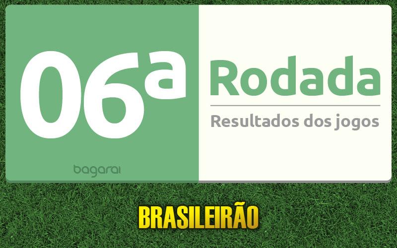 Tabela do Brasileirão 2015 e resultados dos jogos da 6ª rodada