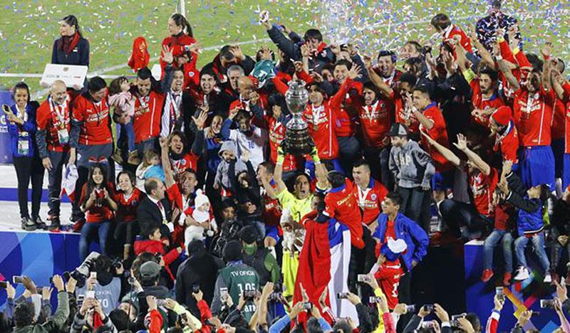 Chile é campeão da Copa América 2015 (divulgação)
