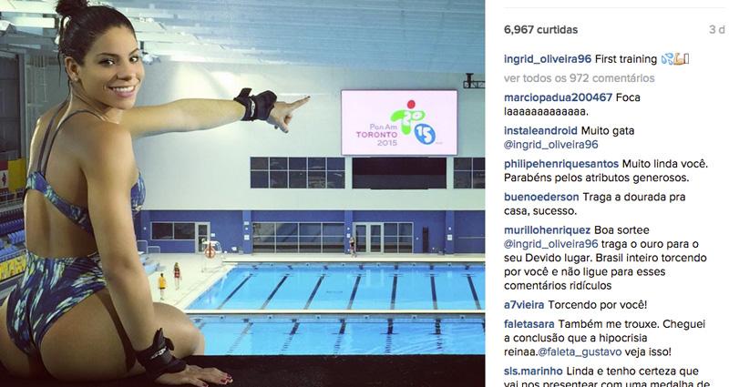 Pan 2015: Foto de atleta brasileira de maiô bomba na internet