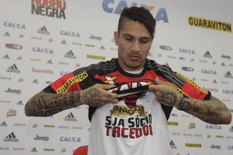 Guerrero foi apresentado no Flamengo