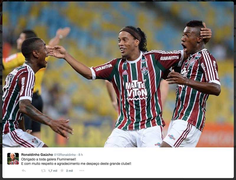 Ronaldinho Gaúcho 2015: Fora do Fluminense
