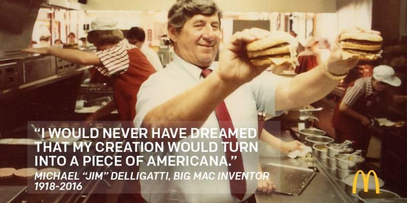 Jim Delligatti, criador do Big Mac, morreu aos 98 anos