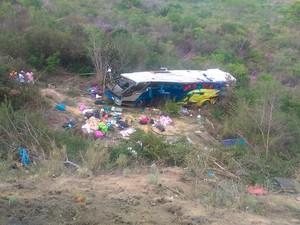 Bahia: acidente de ônibus deixa vítimas na BR-116