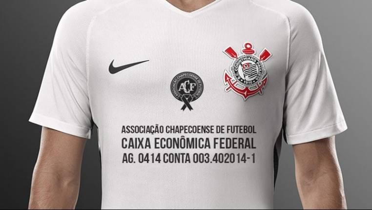 Confira como será a camisa do Corinthians que homenageia Chapecoense