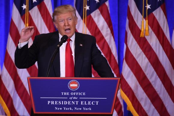 Donald Trump é o 45º presidente dos Estados Unidos