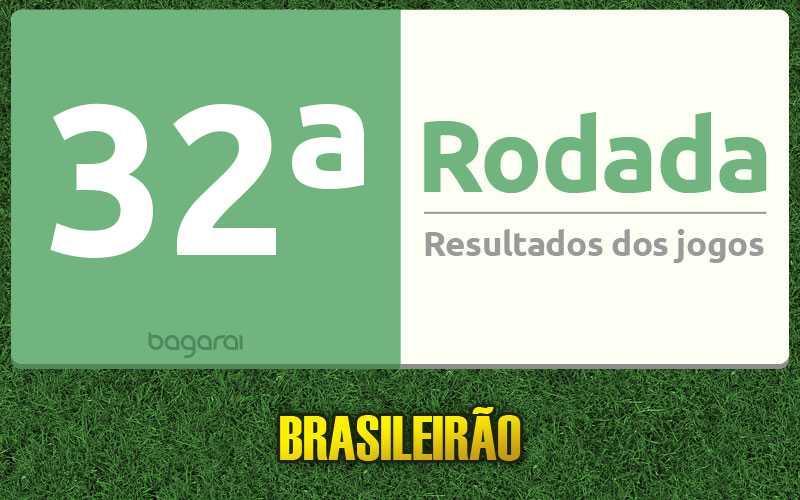 Confira resultados dos jogos da 32ª rodada, tabela do Brasileirão 2016