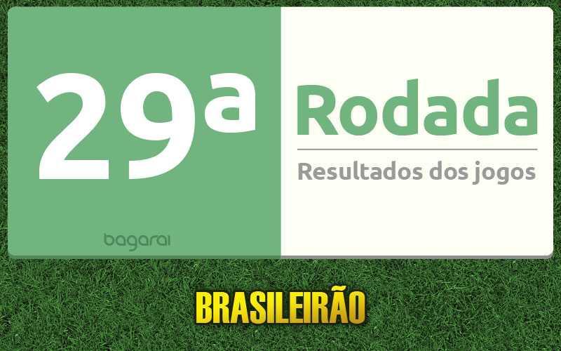 Confira os resultados da 29ª rodada, tabela do Brasileirão 2016