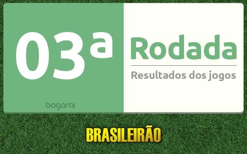 Confira resultados dos jogos da 03ª rodada, tabela do Campeonato Brasileiro 2017