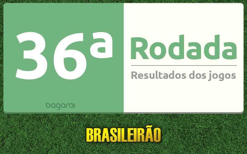 Confira os resultados da 36ª rodada, tabela do Brasileirão 2016