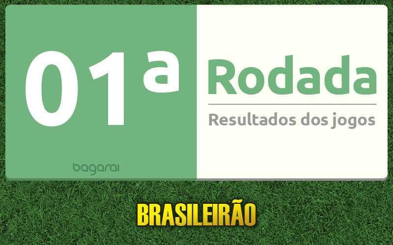 Confira resultados dos jogos da 01ª rodada, tabela do Brasileirão 2017