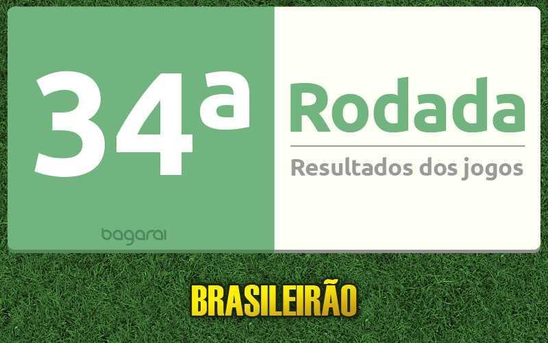 Confira resultados dos jogos da 34ª rodada, tabela do Brasileirão 2016