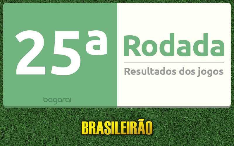 Confira resultados dos jogos da 25ª rodada, tabela do Brasileirão 2016