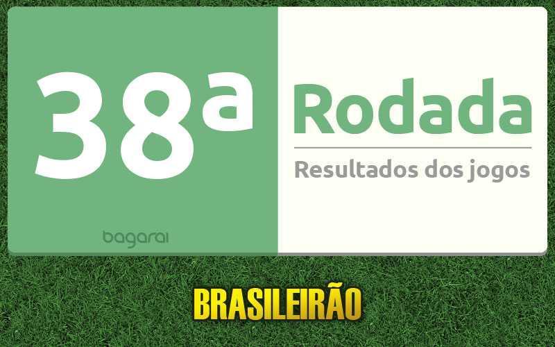 Confira os resultados da 38ª rodada, tabela do Brasileirão 2016