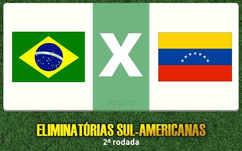 Resultado do jogo: Brasil vence Venezuela pelas Eliminatórias 2018
