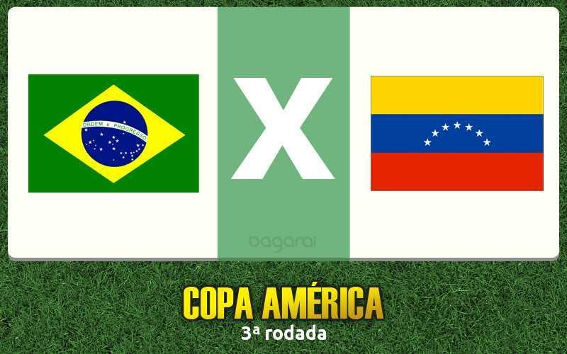 Resultado do jogo de hoje: assistir Brasil e Venezuela pela Copa América 2015