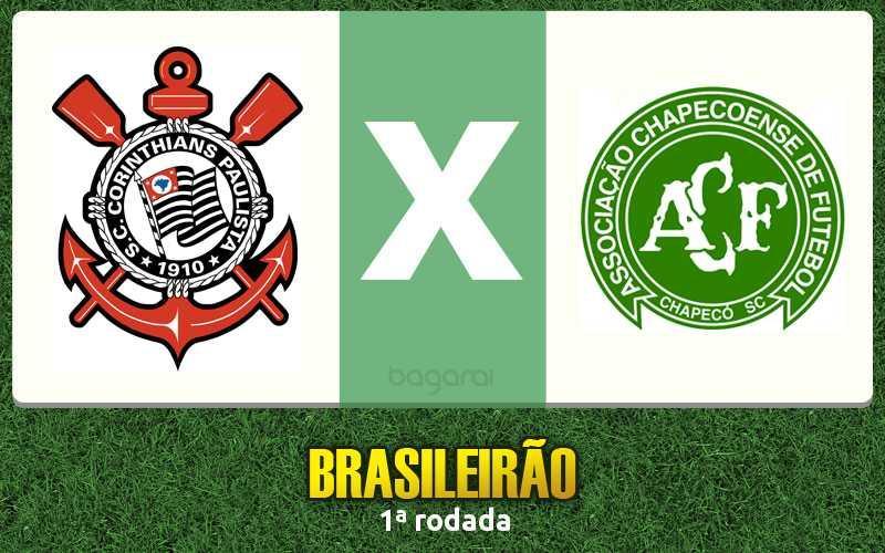 Corinthians e Chapecoense ficam em 1 a 1 pelo Campeonato Brasileiro 2017