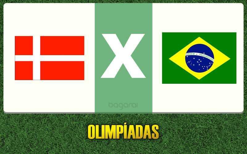 Brasil goleia Dinamarca e se classifica para as quartas no futebol masculino
