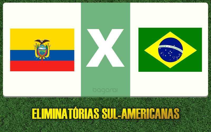 Equador e Brasil pelo Eliminatorias 2016, ver online