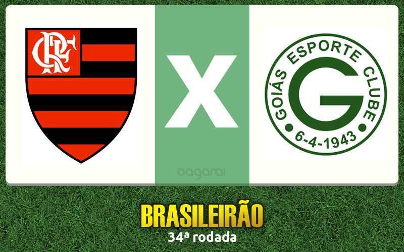 Flamengo goleia Goiás pelo Brasileirão 2015