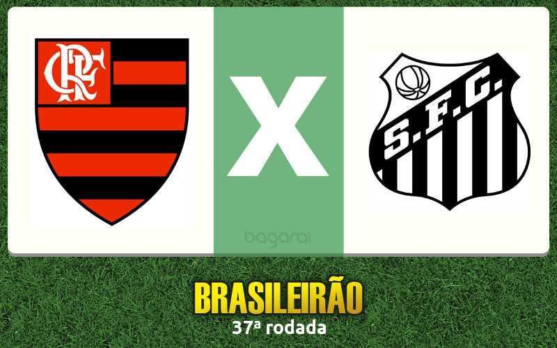 Campeonato Brasileiro 2016: Flamengo vence Santos por 2 a 0
