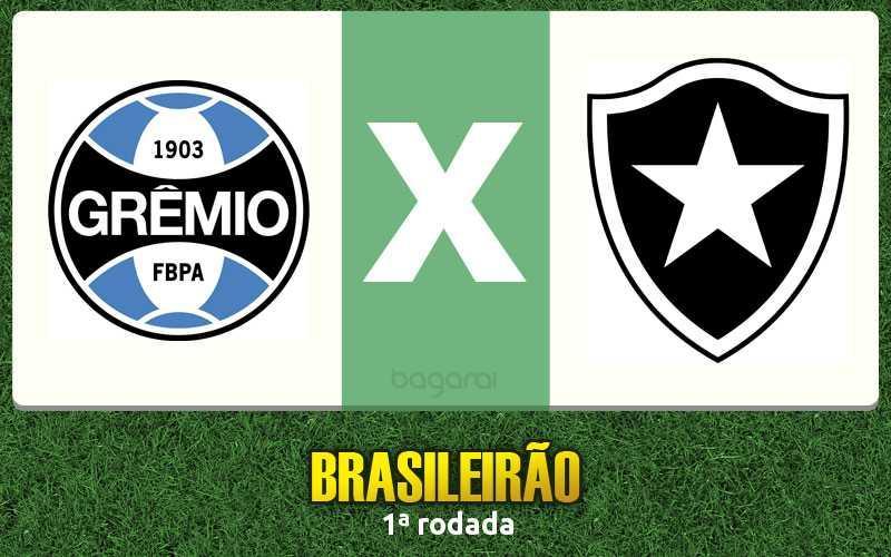 Grêmio vence Botafogo pelo Brasileirão 2017 por 2 a 0