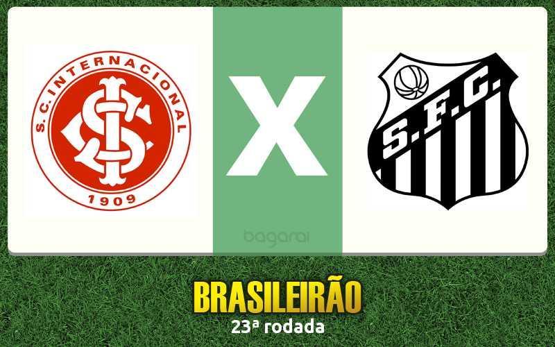 Internacional vence Santos pelo Campeonato Brasileiro 2016 por 2 a 1