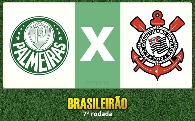 Jogo Palmeiras e Corinthians pelo Brasileirão 2016 fica no 1 a 0