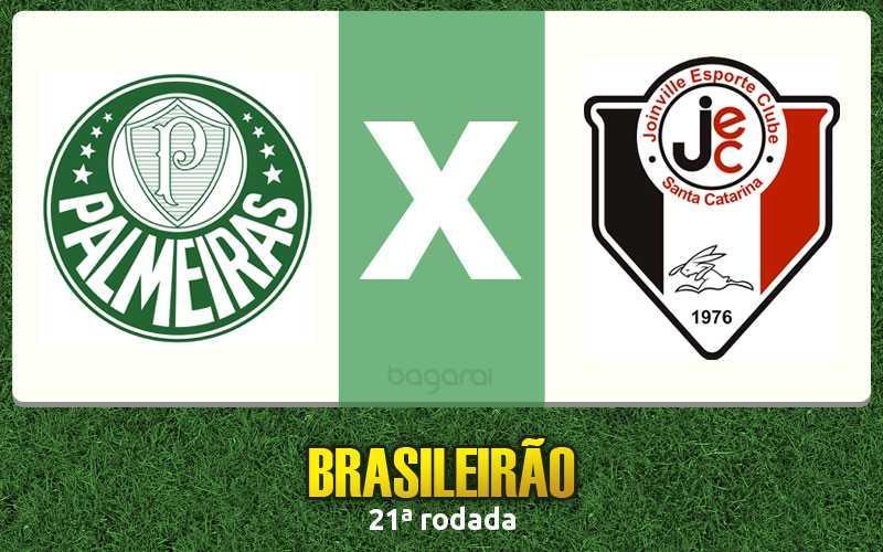 Glória, aleluia: Palmeiras vence Joinville pelo Brasileirão 2015, Resultado do jogo de hoje