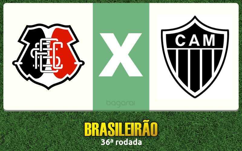 Brasileirão 2016: Santa Cruz e Atlético Mineiro empatam em 3 a 3 na 36ª rodada