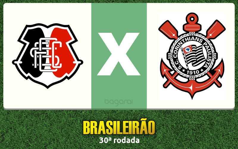 Corinthians faz 4 a 2 no Santa Cruz pelo Campeonato Brasileiro 2016 na 30ª rodada