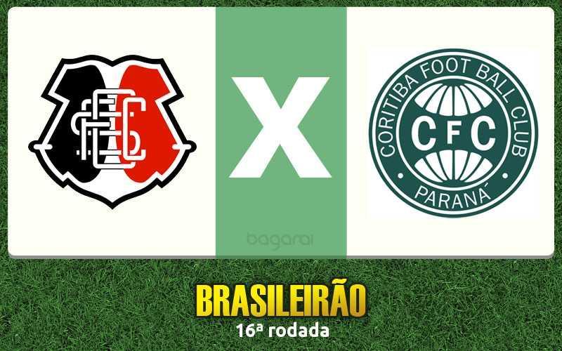 Brasileirão 2016: Coritiba vence Santa Cruz
