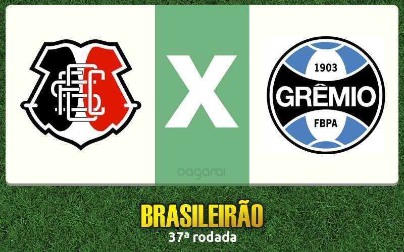 Brasileirão 2016: Santa Cruz faz 5 a 1 no Grêmio, Resultado do jogo de hoje