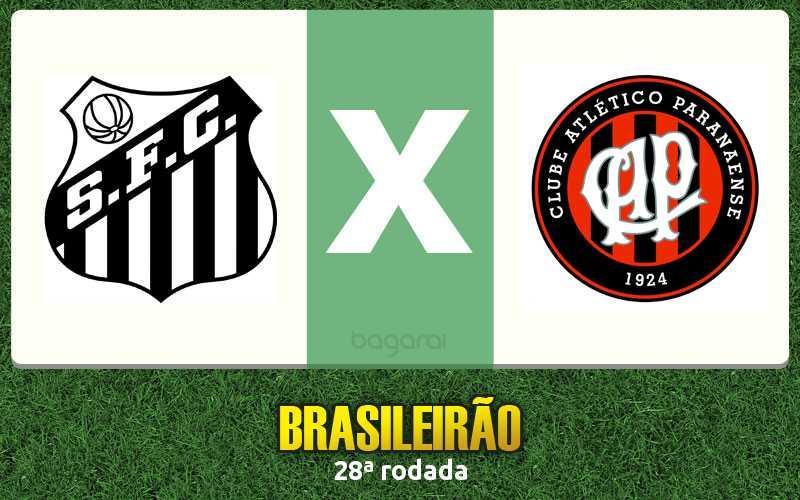 Santos faz 2 no Atlético Paranaense pelo Brasileirão 2016